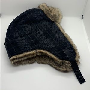 Men's banana republic plaid trapper cap